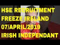 HSE RECRUITMENT FREEZE AND OVERTIME BAN !!