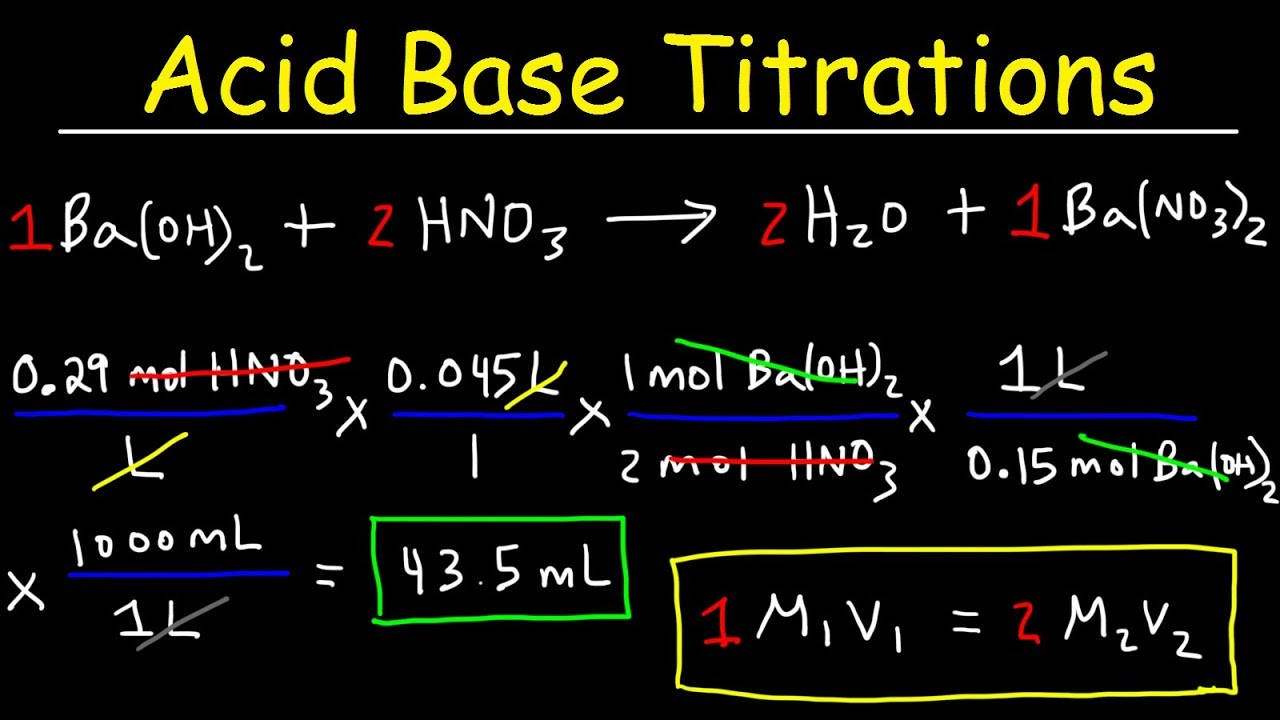 how to solve titration problems step by step