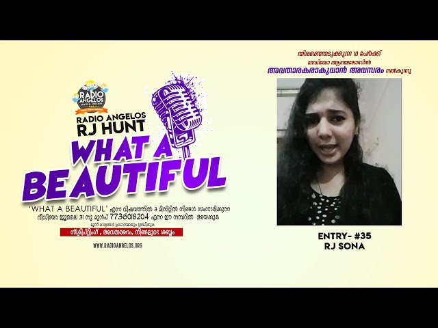#35 RJ Sona || WHAT A BEAUTIFUL || RJ HUNT ENTRY