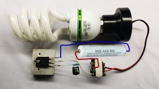Repeat youtube video How to make easy inverter circuit 12V DC for Fluorescent Lamps at home