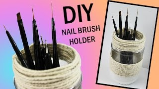 DIY Brush Holder | Store Your Nail Art Brushes Safely! ♥ Nailed It NZ