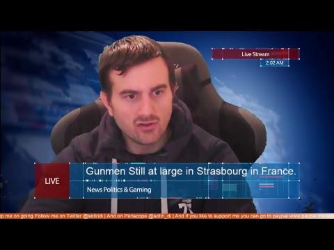 Gunmen Still at large in Strasbourg in France.