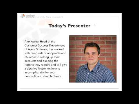 Accountant Guide to Managing Nonprofit and Church Clients in Aplos   Webinar