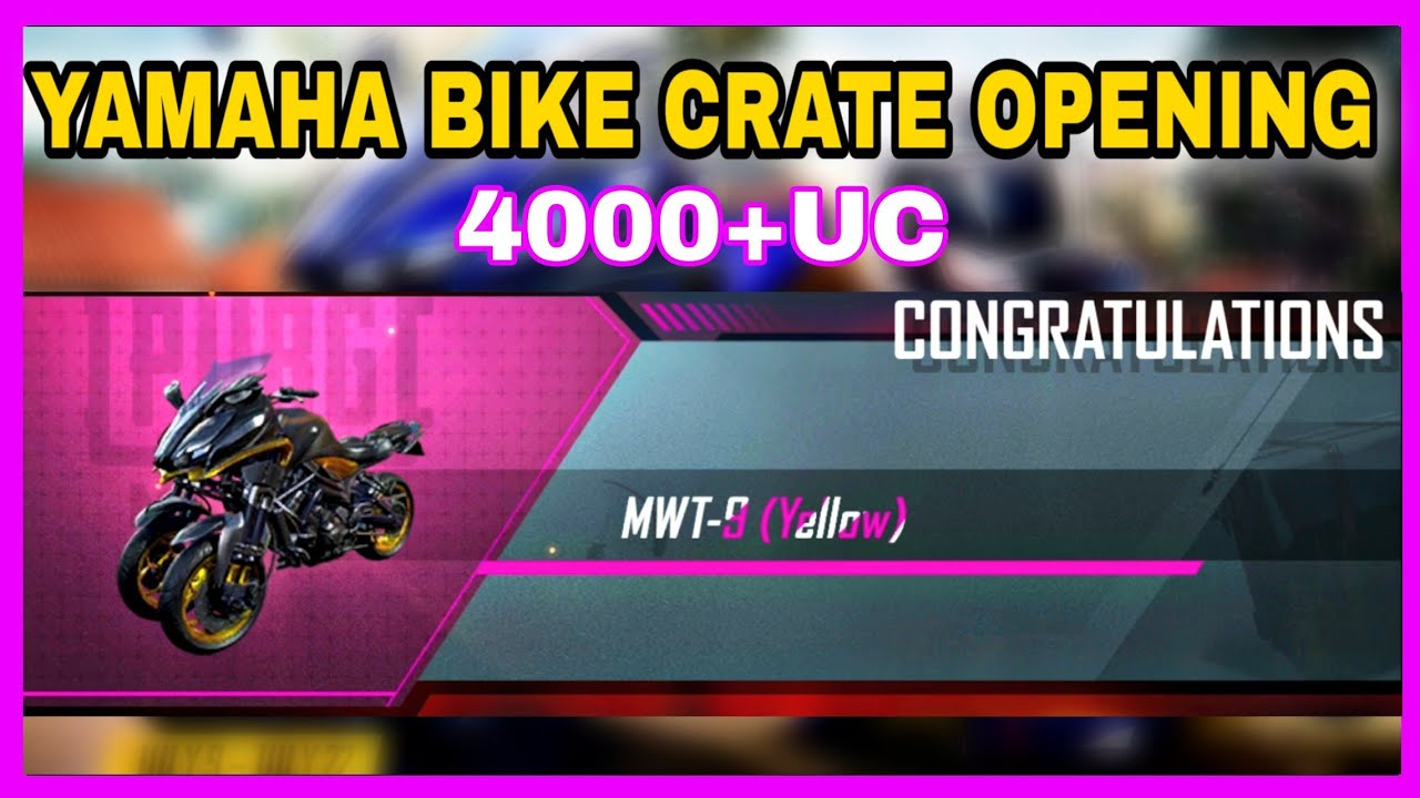PUBG YAMAHA CRATE OPENING IN TAMIL| 4000+ UC SPENDING| MWT-9 (YELLOW) |T7 CONCEPT|TYSON NOOB GAMER|