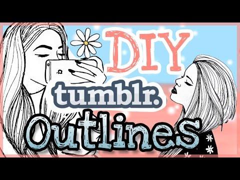 Diy Tumblr Outlines Easy Foxy Draws Youtube