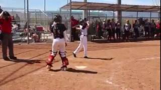Boys trying to hit off Fastpitch Softball Girl Pitcher! USSSA