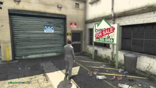 Michael Buying Garage Grand Theft Auto V gta5 PS4