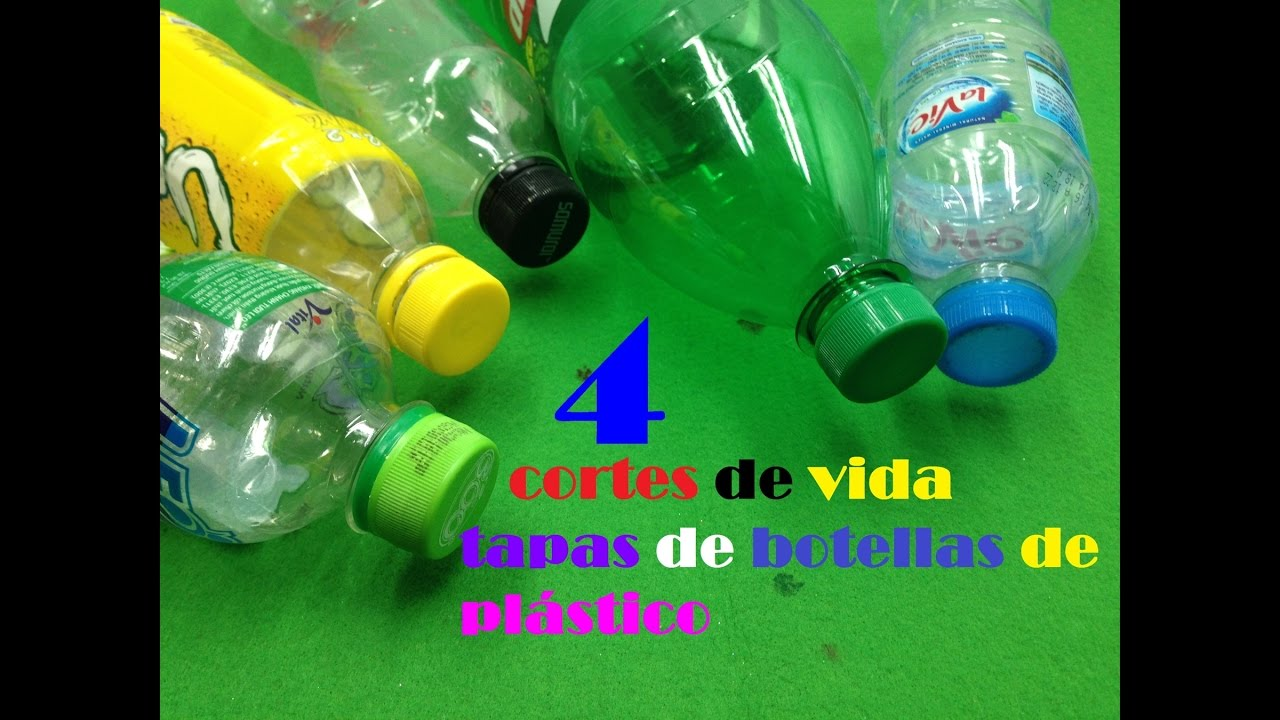 4 ideas con tapas de botellas de plástico   4 ideas ...
