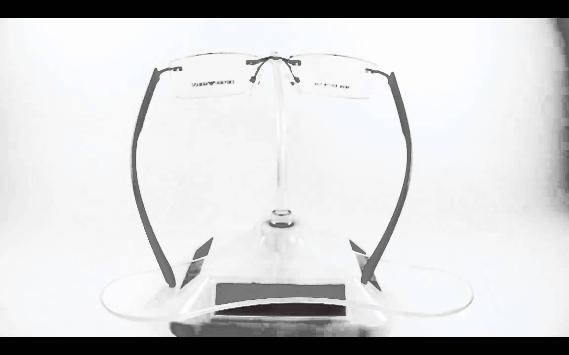 Montura Emporio Armani 3 Piezas Slim Air Tr90 Navy Opt0085 - YouTube