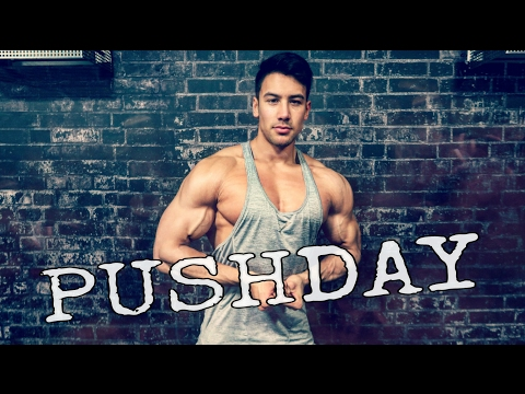 PUSH DAY - LATIHAN DADA,BAHU, TRICEPS DI GYM