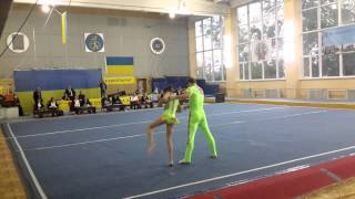 Спортивная акробатика. Чемпионат Украины 2014. Винница. Смешанная пара
