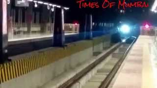 Mumbai Metro Train || Late Night Last Mumbai Metro Train From Versova To Ghatkopar