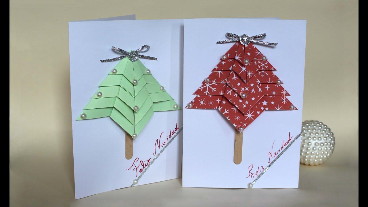 Como hacer una tarjeta de felicitaci n de navidad youtube - Como hacer una felicitacion de navidad original ...