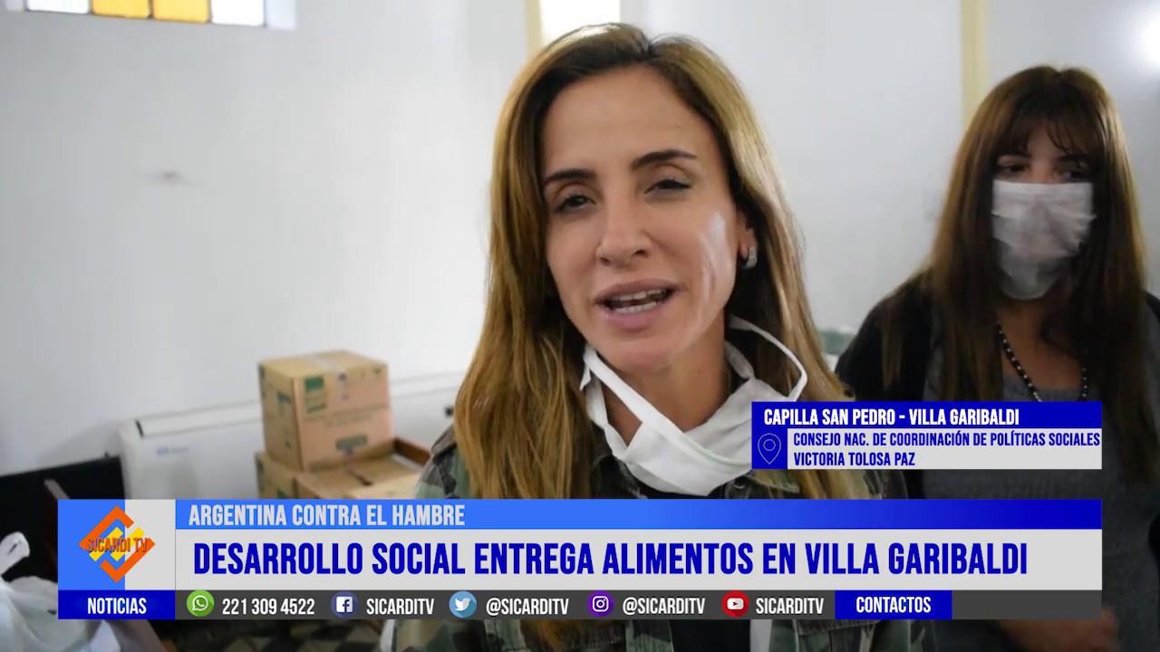 Desarrollo Social entrega alimentos en Villa Garibaldi