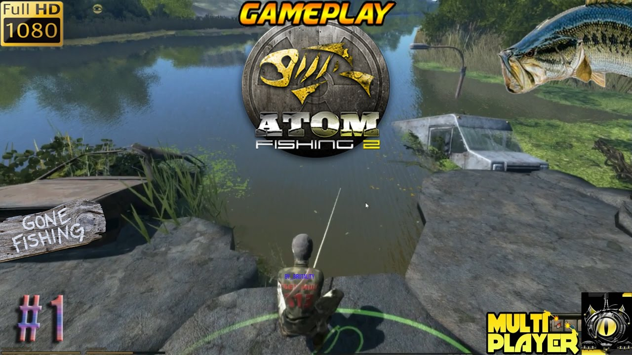 atom fishing 2 pc gameplay 1 tuto multiplayer