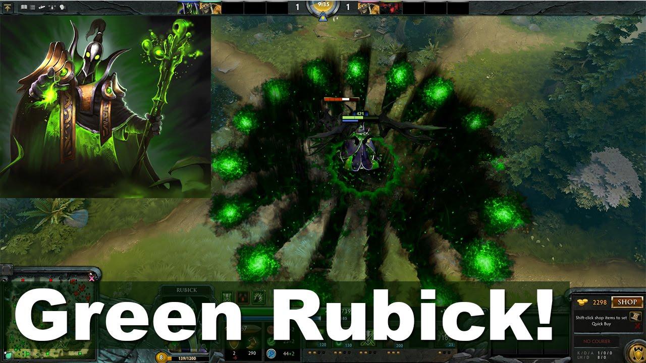 green rubick look dota 2 youtube