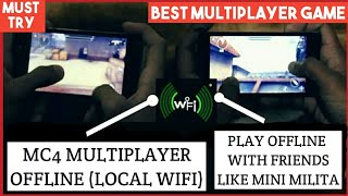 How To Play Modern Combat 4 MultiPlayer OFFLINE (Local WiFi)