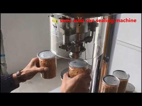 полуавтоматическая машина для склеивания банок, машина для склеивания банок для домашних животных
