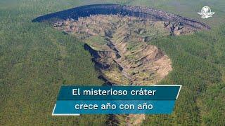En la última década, este cráter ha crecido 10 metros cada año