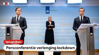 TERUGKIJKEN: Persconferentie van Mark Rutte en Hugo De Jonge