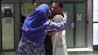 De Gaza a París: un reencuentro que tardó tres años