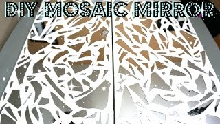 DIY MIRROR MOSAIC WALL ART   PETALISBLESS