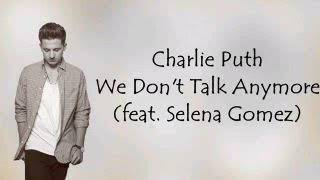 Charlie Puth ..We don't talk anymore...mp3 download song..