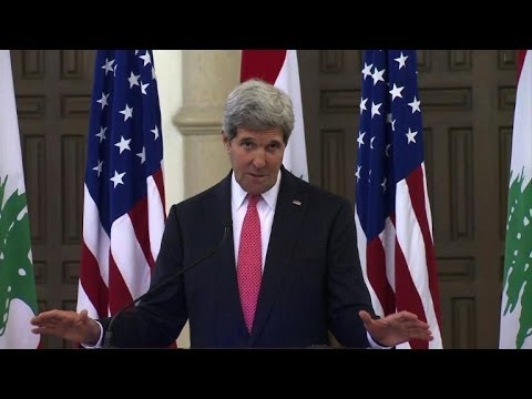 Kerry from Beirut: Syria elections are 'a great big zero'
