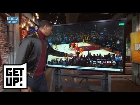 Jalen Rose breaks down film of LeBron James' block and gamewinning shot  Get Up!  ESPN