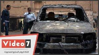 بالفيديو.. شاهد آثار حريق حدائق القبة وتفحم 11 سيارة