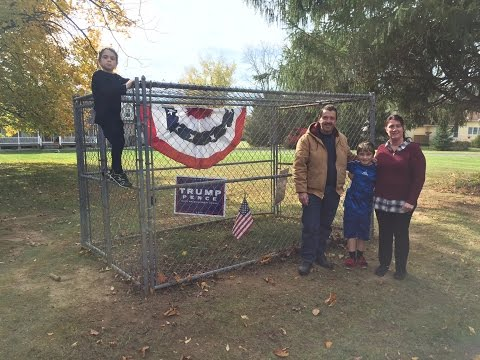 Family Builds Electric Fence to Protect Trump Signs   Election Cycle