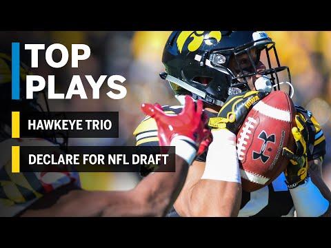 Season Highlights: Three Hawkeyes Declare for the NFL Draft | Iowa | Big Ten Football