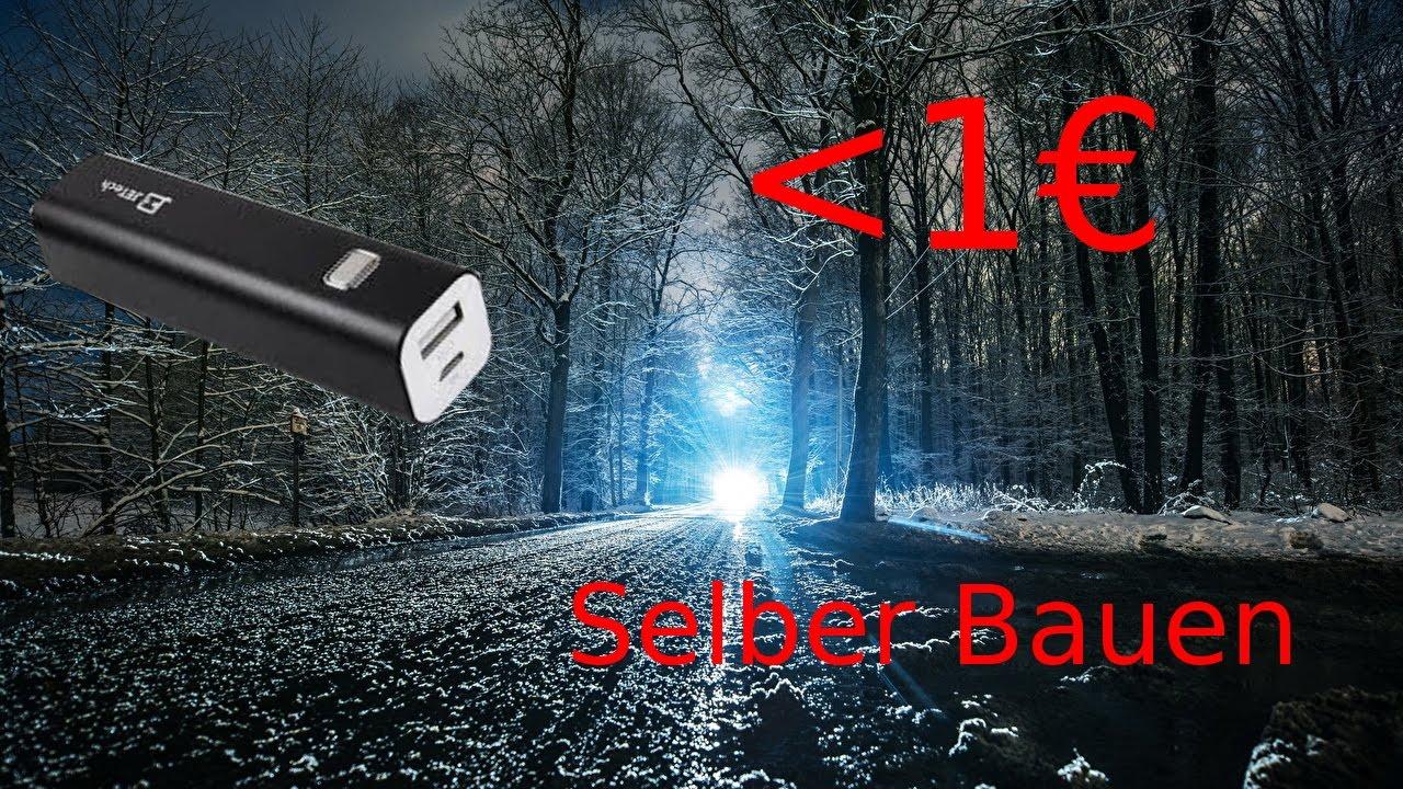 heftiges upgrade f r powerbank selber bauen 1 powerbank in taschenlampe verwandeln diy youtube. Black Bedroom Furniture Sets. Home Design Ideas