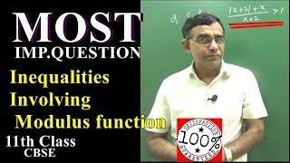Class 11 Maths modulus inequalities,inequalities involving modulus function2019 Q6 Video