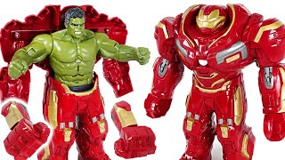 #3 Red Hulk is angry! Go! Marvel Avengers Infinity War Hulk in Hulkbuster armor! - DuDuPopTOY