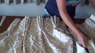 Three pleat- how to make triple pinch pleat curtains