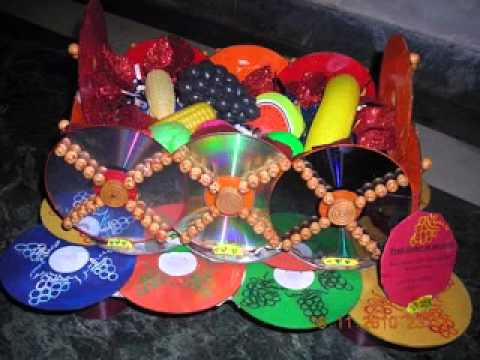 Best out of waste craft decorations ideas youtube for Decoration ideas from waste