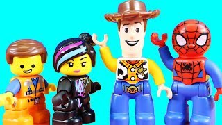 Lego Duplo Toy Story 4 Train ! Woody & Batman Team Up With Lego Movie 2 ! Superhero Toys