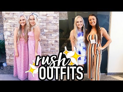 Sorority Rush Outfits of the Week + My Rush Experience
