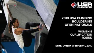 2019 USA Climbing: Bouldering Open National Championship | Women's Qualification Round