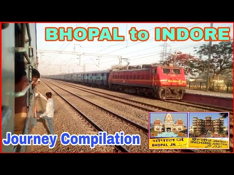 BHOPAL to INDORE :: Indian Railway Journey Compilation :: Onboard 22192 Overnight Express    IR