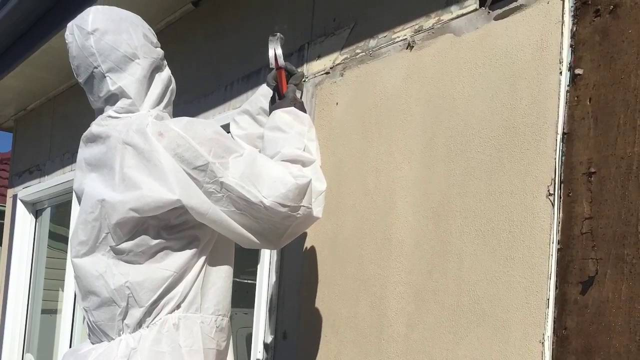 Asbestos Walls and Eaves Removal - YouTube