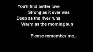 Tim McGraw - Please Remember Me - With Lyrics Video