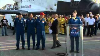 STS-135 Landing Crew Comments