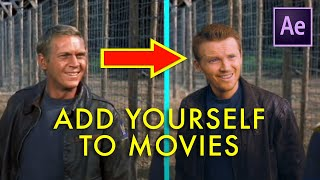How to ADD YOURSELF into movies   After Effects actor replacement tutorial