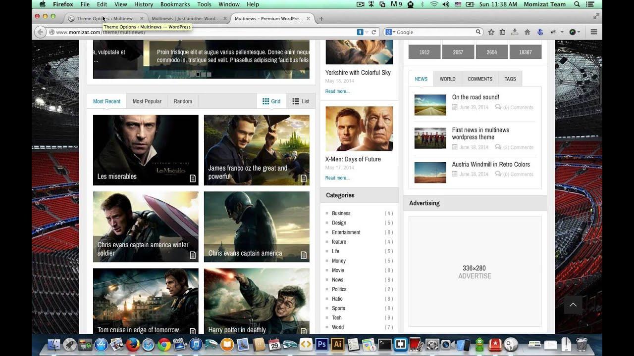 Multinews WordPress News Theme Teması