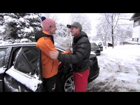 Skispringen: Thomas Morgenstern interviewt Severin Freund | Vierschanzentornee 2014/15 | Oberstdorf