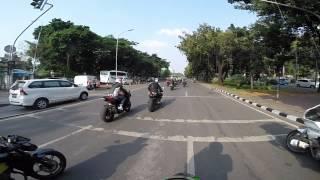 GoPro Hero 3+ Camera on Board, Yamaha R25 Launching Jakarta