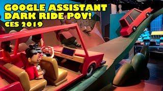 Google Assistant Dark Ride Full Onride POV! CES 2019 Consumer Electronics Show Las Vegas