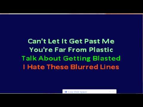 Karaoke Robin Thicke & T.I. & Pharrell - Blurred Lines